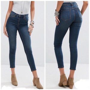 Free people gummy denim high rise jeans 28